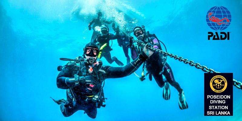 PADI Deep Diver specility course sri lanka hikkaduwa