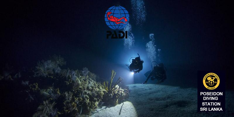 padi night dive course srilanka hikkaduwa trincomalee sri lanka