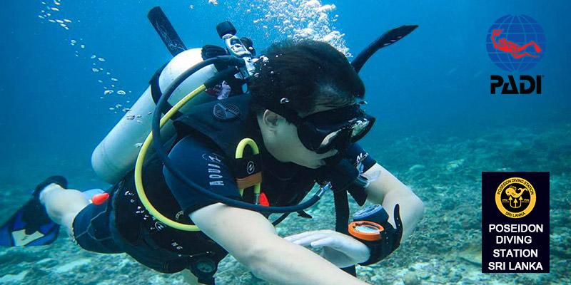 PADI Underwater Navigator specility course sri lanka
