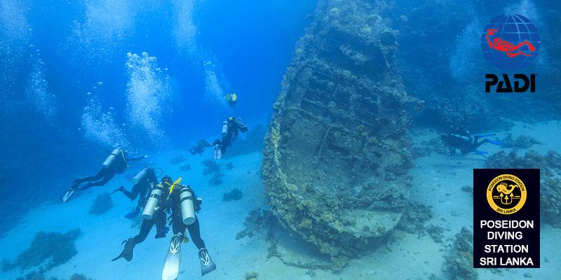 padi Wreck Diver speciality course sri lanka hikkaduwa nilaveli